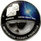 2012 Brenham Meteorite USA Cosmic Fireball Proof Silver Locket Coin - Fiji (.6430 oz ASW)