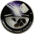 2013 Chassigny Meteorite France Cosmic Fireball Proof Silver Locket Coin - Fiji (.6430 oz ASW)