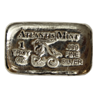 1 oz Capricorn Zodiac Silver Bar - Atlantis Mint (.999 Pure)