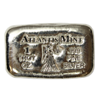 1 oz Virgo Zodiac Poured Silver Bar - Atlantis Mint (.999 Pure)
