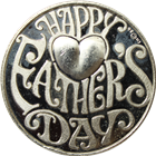 Happy Fathers Day 1 oz Silver Round (.999 Pure)