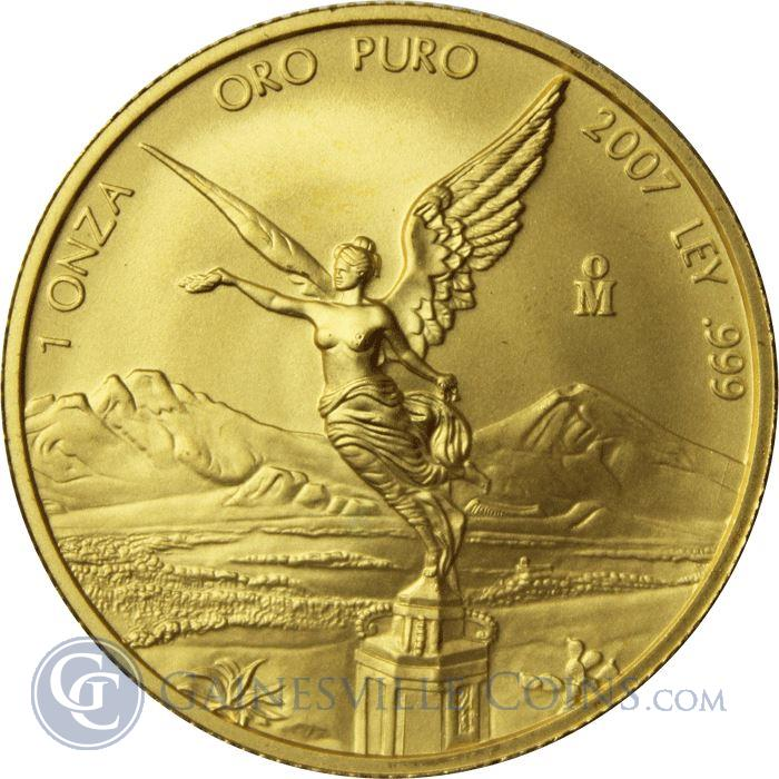 Image Showcase for 2007 Mexico 1 oz Gold Onza