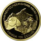 1999 Canada $100 Proof Gold - 50th Anniversary Newfoundland Unity (With Box & COA) .25 oz of Gold