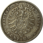 German States Prussia 5 Mark Silver Coin
