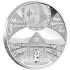 2014 William Shakespeare 450th Anniversary 5 oz Proof Silver - Tuvalu (With Box and COA)