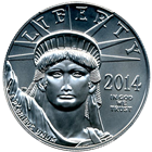 2014 1 oz Platinum American Eagle - Brilliant Uncirculated
