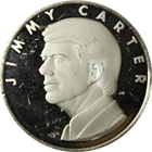 Jimmy Carter 39th President Silver Round (.41 oz Silver) .999 Pure