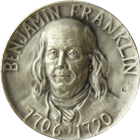 Benjamin Franklin Hall Of Fame For Great Americans Silver Round (1.86 oz ASW)