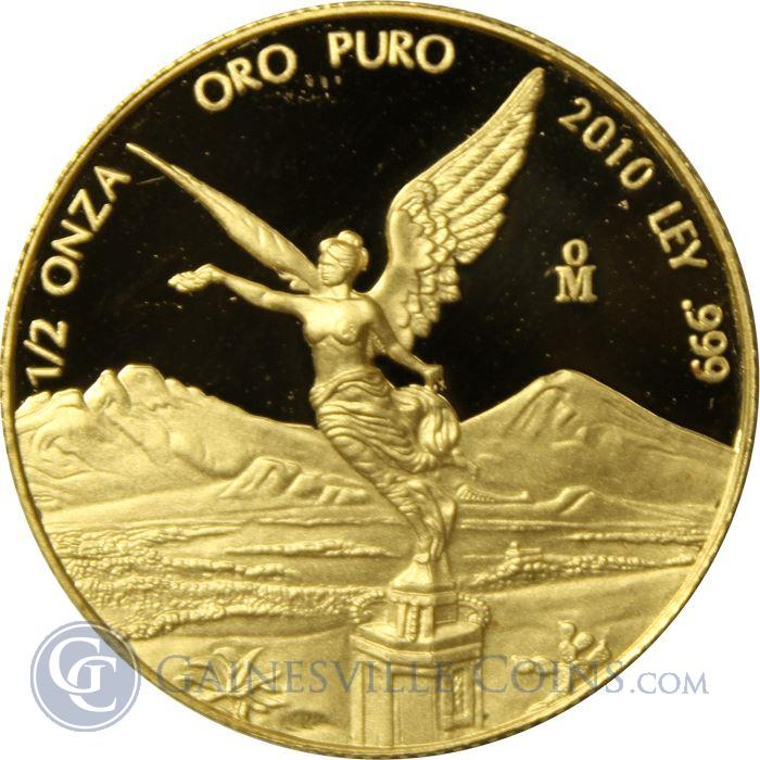 Image Showcase for 2010 1/2 oz Proof Gold Mexican Libertad