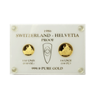 1986 2-Coin Proof Gold Switzerland Helvetia Set (.35 oz Gold)