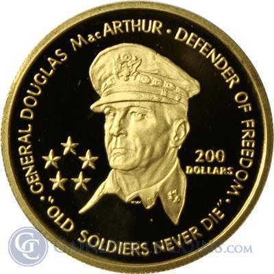 1989 Niue General MacArthur $200 Proof Gold Coin