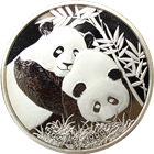 2012 China 5 oz  Proof Silver Panda - Singapore International Coin Fair (With Box)