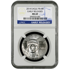 2014 1 oz American Platinum Eagle NGC MS69 Early Release