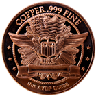 Indian Head Copper Round 1 oz (.999 Pure)