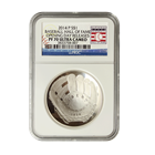 2014 $1 Baseball Hall Of Fame Proof Silver NGC PF70 Opening Day Releases (With Box and COA)