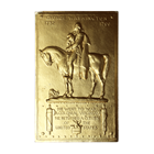 George Washington 6 oz Silver Bar - 14K Gold Plated (.999 Pure)