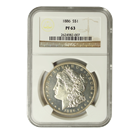 1886 Morgan Silver Dollar NGC PF63