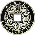 2007 Canada $8 Proof Silver Chinese Coin (With Box and COA)