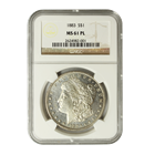 1883 Morgan Silver Dollar NGC MS61 PL