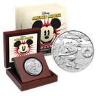 2014 Disney Steamboat Willie 1 oz Silver $2 Niue Coin (With Box and COA)