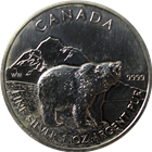 2011 1 oz Canadian Silver Grizzly - Wildlife Series (.9999 Pure) Spotted