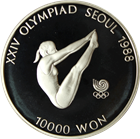 South Korea Seoul Olympics 1 oz Proof Silver Coin - 10,000 Won
