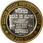 John Wesley Hardin Wanted Dead Or Alive Silver Strike - Limited Edition