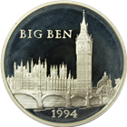 1994 France Paris Mint 100 Euro Proof Silver Big Ben - With COA