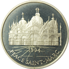 1994 France Paris Mint 100 Euro Proof Silver Place Saint Marc - With COA