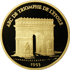 1993 France Paris Mint Arc De Triomphe 500 Franc Proof Gold - With COA