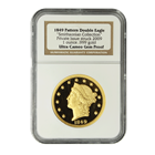 1849 Pattern Double Eagle 1 oz Proof Gold (Struck 2009) | Smithsonian NGC GEM Proof (W/ Box & COA)