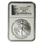 2013 1 oz American Silver Eagle NGC MS-69 American Liberty Series First Release
