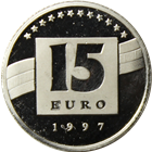 1997 Germany 15 Euro Platinum Coin (.05 oz Platinum)