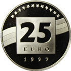 1997 Germany 25 Euro Palladium Coin (.25 oz Palladium)
