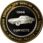 1996 Corvette Limited Edition Ten Dollar Gaming Token .999 Fine Silver