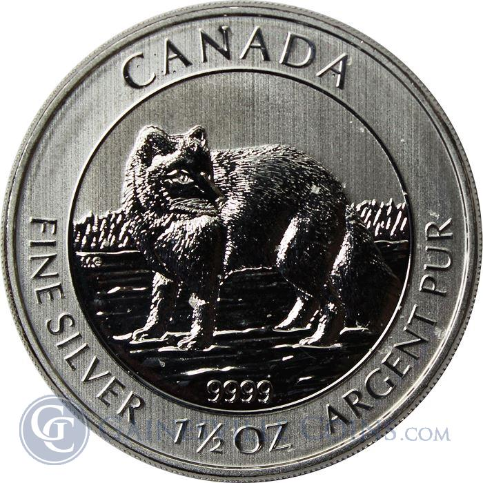 Image Showcase for 2014 1.5 oz Canadian Silver Arctic Fox