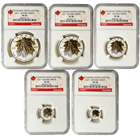 2014 Canada Silver Maple Leaf Gold Gilded Reverse Proof 5 Coin Set NGC PF70
