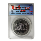 2013 1 oz Silver Canadian Bison ANACS MS69 First Release