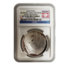 2014 $1 Baseball Hall Of Fame Proof Silver NGC PF70 Early Release