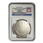 2014 $1 Baseball Hall Of Fame Silver NGC MS69 Early Release