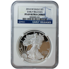 2014 1 oz American Proof Silver Eagle NGC PF69 Ultra Cameo Early Release