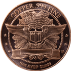 1 oz Copper Round | Maple Design