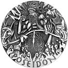 2014 Poseidon Gods Of Olympus 2 oz High Relief Silver Coin Australia Perth Mint - With Box and COA