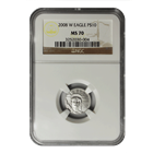 2008-W 1/10 oz Burnished Platinum American Eagle NGC MS70