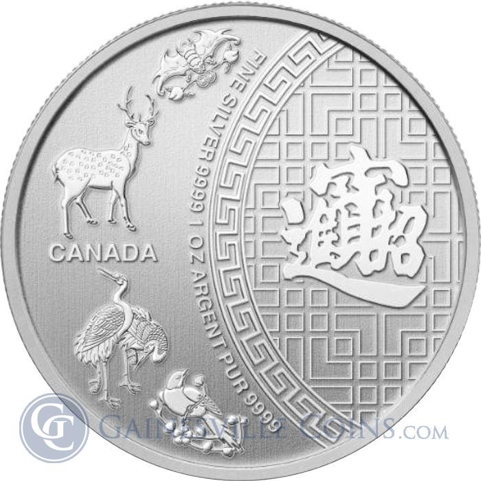 Image Showcase for 2014 1 oz Canadian Five Blessings Silver Coin