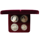 1988 Russia Rouble 4-Coin Tri Metal Set (Platinum, Palladium & Silver) With Box and COA