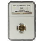 2013 1/20 oz Canadian Gold Maple Leaf NGC MS69