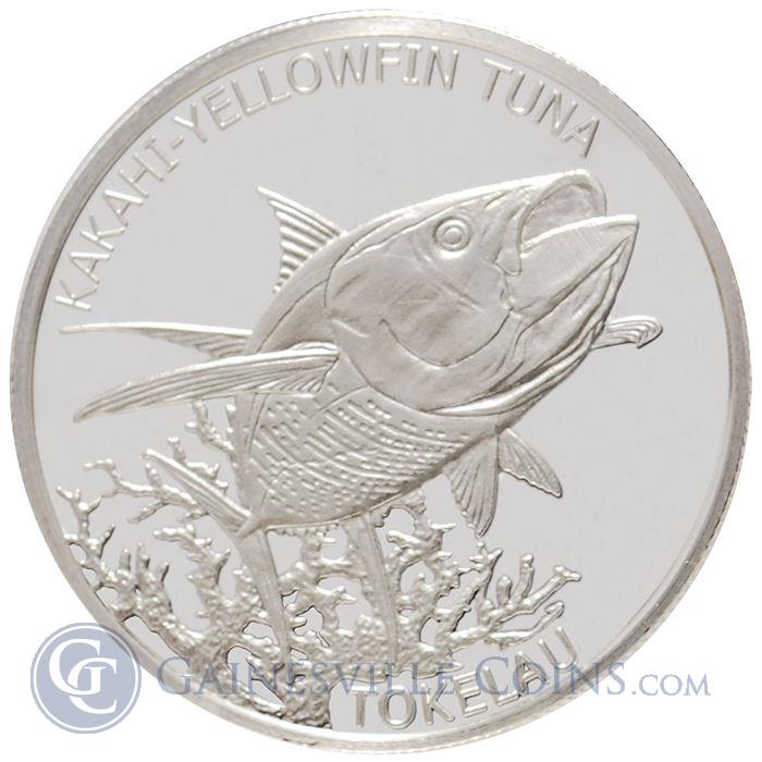 Image Showcase for 2014 Tokelau Yellowfin Tuna 1 oz Silver $5 Coin