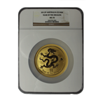 2012 Australia 10 oz Gold Lunar Dragon NGC MS70 - POP of ONLY 3