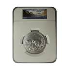 2011 5 oz Silver America The Beautiful - Glacier National Park NGC SP70